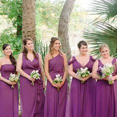 Purple dessy bridesmaid dresses // photo by: Nadine Photography