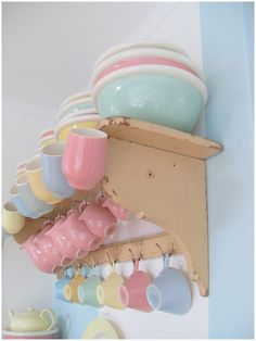 """All my collection pastel colors crockery Petrus Regout and smash book adventure."