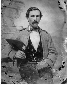 2nd Lt. John Poole Schermerhorn, Jr., in uniform of Wise Legion Cav., Texas Rangers Rosser's Mounted Rangers/Henrico Lt. Dragoons, White Sulphur Springs (W)VA or Kanawha Valley (W)VA Later 10th Virginia Cavalry (Co.'s K and I).