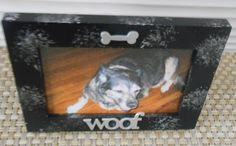 Woof Bone hand painted frame with silver shows off the dog in your life. Dog Frames, Bones, Make It Yourself, Unique Jewelry, Handmade Gifts, Vintage, Etsy, Kid Craft Gifts, Craft Gifts