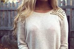 knit pullover spikes