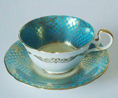 Vintage Tea Cups and Saucers  Aynsley Tea Cup by SwirlingOrange11, $34.00