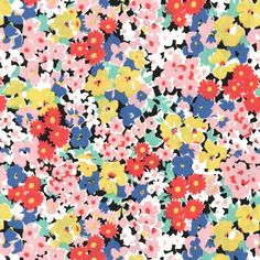 pc6705 glenda vintage florals florals flowers spring retro printed cotton couture blooms petals leaves garden black red
