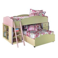 Boston Loft Furniture B140 Doll House Loft with Trundle Bed