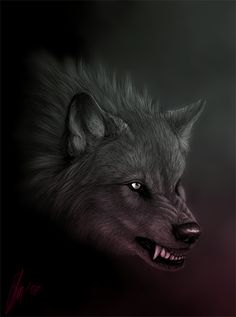 No title. The quality isn& good cos this picture is really small. I did this about a month ago (or two). I found it yesterday in my folder and just decided to add some cool colors and uploa. Wolf Illustration, Anime Wolf, Wolf Spirit, Spirit Animal, Of Wolf And Man, Wolf Hybrid, Shadow Wolf, Beast, Wolf Eyes