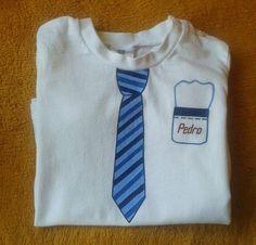 Camiseta Niños Corbata Pintado a mano  T-Shirt Kids Tie  Hanpainted  http://creacionzgz.blogspot.com.es/