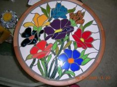 tornamesa mosaico tornamesa mosaico madera de rauli,mosaico ceramico vitromosaico
