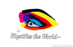 Mystifies the World - A4 Print by Saffron Reichenbacker Magic eye - make up - eye shadow