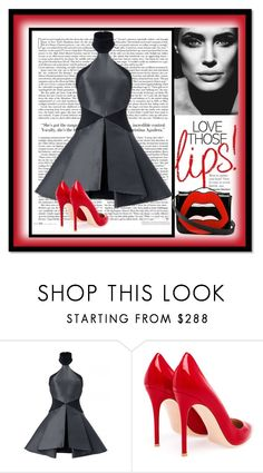 """""""Love those lips!"""" by zabead ❤ liked on Polyvore featuring Gianvito Rossi and Yazbukey"""