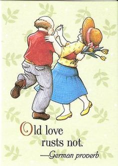 Old Love Rusts Not German Proverb Fridge Magnet Artwork Mary Engelbreit