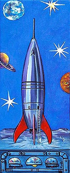 Retro Rocket Design.