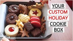 Make ANY Cookie with THIS Recipe (Linzer/Sugar/Gingerbread/Chocolate/Butter/Holiday Cookies Cookie Recipes video recipe Chocolate Sugar Cookies, Chocolate Butter, Cookie Box, Cookie Dough, Christmas Desserts, Christmas Baking, Cupcakes, Custom Cookies, Cookies Et Biscuits