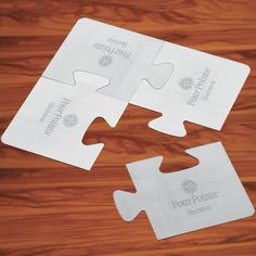 Puzzle Coaster Set - four brushed aluminum, puzzle shaped foam backed coasters. Use separately or fit together for a trivet. Includes one laser engraving on each coaster or one on trivet. Packaged in one piece black gift box. Closeout pricing reflected here.
