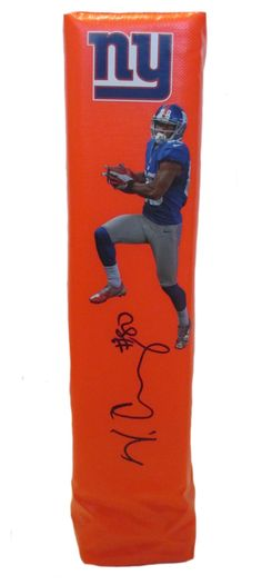 Victor Cruz signed NY Giants full size football touchdown end zone pylon w/ proof photo.  Proof photo of Victor signing will be included with your purchase along with a COA issued from Southwestconnection-Memorabilia, guaranteeing the item to pass authentication services from PSA/DNA or JSA. Free USPS shipping. www.AutographedwithProof.com is your one stop for autographed collectibles from New York sports teams. Check back with us often, as we are always obtaining new items.