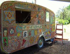 Painstaking hippie mosaic by lauraelena