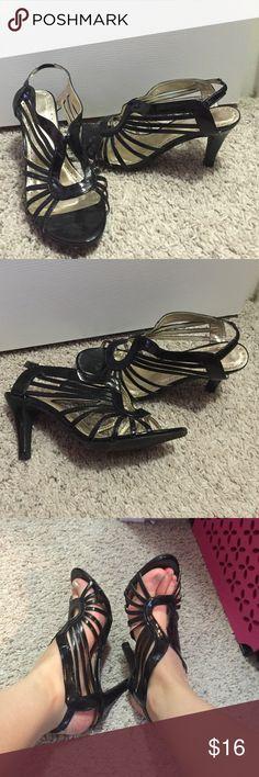 Black strappy heels Bundles available! (Closet) Avon Shoes Heels