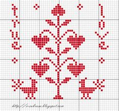 The Woman Embroidery: Embroidery Pattern Hearts and Valentinesbricolage Description