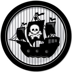Cute plates for pirate party