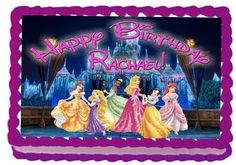 Princess Castle 1/4 Sheet Edible Photo Birthday Cake Topper. ~ Personalized! -- Find out more details @ : baking decorations