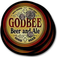 Godbee Beer & Ale Drink Coasters - Set of 4 #godbee #family #beer #gift