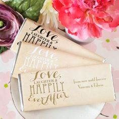 Love Hily Ever After With Chocolate Bar Favors See More Wedding And