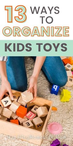 Organize Kids Toys with these organizing ideas. Kids toy organization made easy with these organizing hacks. #handlinghomelife Toy Room Storage, Toy Room Organization, Kids Storage, Storage Ideas, Toy Storage Solutions, Organize Kids, Organizing Ideas, Organisation Ideas, Organizing Life