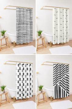 Beatiful boho shower curtain for monochromatic bathroom, farmstyle bathroom, modern bathroom, black and white bathroom decor. Perfect for people who are looking for bohemian shower curtains or have a scandinavian bathrooms. If you love black and white bathroom decor or have a black and white bathroom, you will love these minimalistic shower curtains from Etsy Bohemian Shower Curtain, Long Shower Curtains, Bohemian Bathroom, White Bathroom Decor, Bathroom Black, Shower Curtain Rings, Bathroom Modern, Bathroom Ideas, Tribal Decor