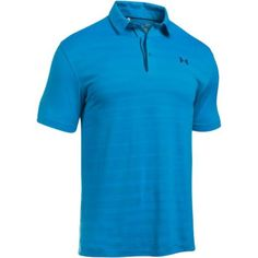 Under Armour Coolswitch Jacquard Golf Polo in Brilliant Blue as seen on Jordan Spieth