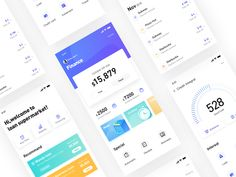 Finance(blue-purple) by wenwenzwy for UIGREAT Studio on Dribbble Flat Web Design, App Ui Design, Dashboard Design, Interface Design, User Interface, Dashboard App, Design Design, Graphic Design, Ui Design Mobile