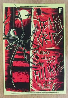 Original concert poster for Death Grips at The Fillmore in San Francisco, CA in 2015. 13
