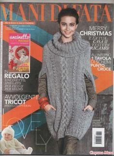 Привет!  Встретила вот такую модель и не смогла даже сразу сказать что это такое: свитер?, туника?, пончо?, или три в одном? Возможно, это три в одном. Замечательный Вам воплощений!