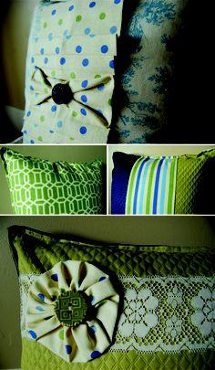 diy pillows....adorbs!