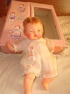 1960's Tiny Thumbelina Doll with Origional Working Mechanical Knob and Case | eBay