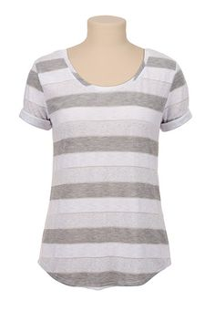 Striped High-low Tee (original price, $20) available at #Maurices