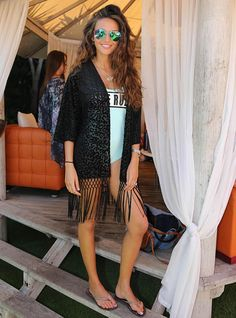 Former Coronation Street actress Michelle Keegan, pictured, is among those to have been seen wearing a kimono from her own Lipsy Love collection.