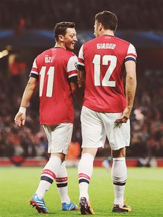 Özil and Grioud - Arsenal FC