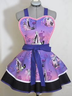 Sleeping Beauty Pin Up Apron by AquamarCouture on Etsy
