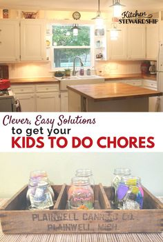 Easy solutions to get your kids to help around the house by doing chores.