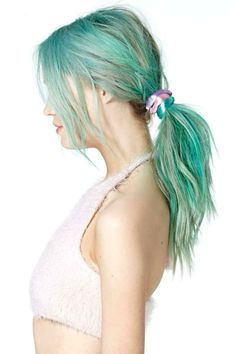Never a Dull Moment Elastic Hair Trio green and blue hair color