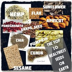 The Top 10 Healthiest Seeds on Earth - The Healthy Archive Body Detox Cleanse, Healthy Seeds, Healthy Habits, Pomegranate Seeds, Proper Diet, Healthier You, Natural Living, Natural Healing, Health And Nutrition