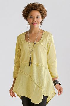 Arch Tunic: Cynthia Ashby: Linen Tunic - Artful Home  I would love to have this, but it's a little pricey!!