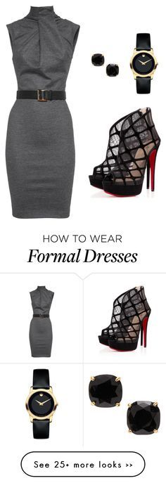 """""""Semi formal outfit"""" by priyanka-cholleti on Polyvore featuring Dsquared2…"""
