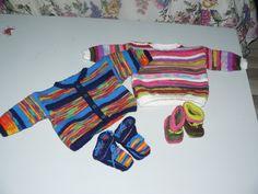 setjes baby kleding van restjes wol