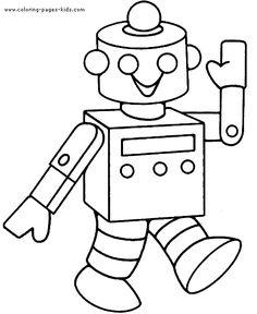 Okul Öncesi Robot Boyama Sayfaları - Okul Öncesi Etkinlik Kütüphanesi - Madamteacher.com