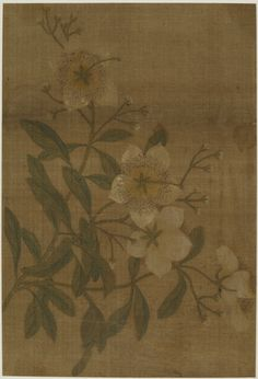 A Spray of flowers | 1644-1911 | Qing dynasty | Ink and color on silk | China | Gift of Charles Lang Freer | Freer Gallery of Art | F1911.484
