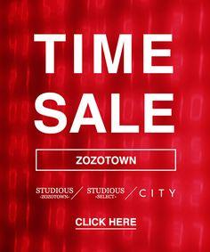 STUDIOUS SELECT(ステュディオスセレクト)のショップニュース「【TIME SALE】本日よりスタート!!」