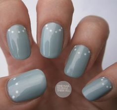 Simple Dot Half Moon manicure - nail art - nails