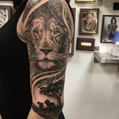 Finished this lion piece today! #liontattoo #ringvägen85 #lifestyletattoosödermalm