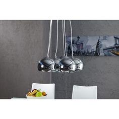 Moderne hanglamp Perlota XL chroom - 6963