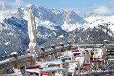 Terrazza panoramica sulle Dolomiti da HotelPordoi